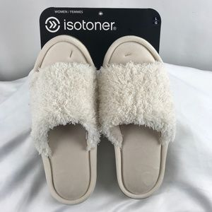 Isotoner Cream Coloured Memory Foam Slippers